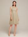 Alicepub One Shoulder Chiffon Bridesmaid Dress for Women Party Homecoming