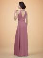 Alicepub Chiffon Bridesmaid Dresses Long Formal Dress for Women Party Sleeveless