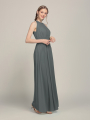 Alicepub Pleated Bridesmaid Dresses for Women Chiffon Long Formal Prom Party