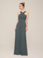 Alicepub Crisscross Neck Bridesmaid Dress Chiffon Long Formal Dresses for Women Party Evening