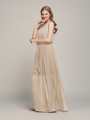 Alicepub Women's Halter Long Bridesmaid Dresses Chiffon Dress Wedding Formal Party Gown