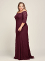 Alicepub Off Shoulder Lace Trumpet Long Formal Dresses for Women Evening Party