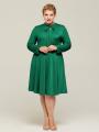 Alicepub Women's Tie Neck Plus Size Dress Long Casual Work Party Mother Dresses