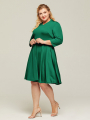 Alicepub Women's 3/4 Sleeve V-Neck A-line Plus Size Casual Work Party Mother Dresses