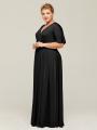 Alicepub Women's Short Sleeve Stretch Jersey Wrap Dresses