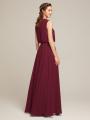 Alicepub Jewel  Sleeveless Chiffon Long Prom Evening Formal Gown