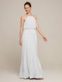 Alicepub High Neck Chiffon Long Formal Evening Dress for Women