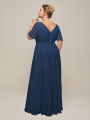 Alicepub womens Classic short sleevess long bridesmade dress