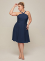 Alicepub Short Sleeves V-Neck Bridesmaid Dress for Women Party