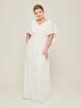 Alicepub Cape V-Neck Lace Long Formal Dress for Wedding Dress