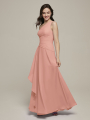 Alicepub One Shoulder Chiffon Bridesmaid Dresses Long Formal Evening Prom Dress for Special Occasion
