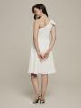 Alicepub Bow Detailed Chiffon Short Formal Party Homecoming Dress