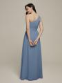 Alicepub One Shoulder Chiffon Bridesmaid Dresses Long Formal Dress for Women