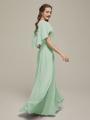 Alicepub Cape V-Neck Chiffon Long Formal Evening Prom Dress