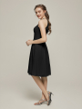 Alicepub Chiffon Short Formal Party Homecoming Dress with Lace Bodice