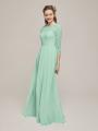 Alicepub Lace Top Chiffon Long Bridesmaid Dresses  for Prom Dress