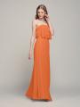 Alicepub Strapless Ruffle Chiffon Long Bridesmaid Dresses for Women Formal Dress
