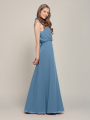 Alicepub Halter Tie Sleeveless Chiffon Formal Long Bridesmaid Dress for Wedding