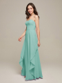 Alicepub Strapless Long Chiffon Bridesmaid Dresses for Women Party Wedding Prom Evening Gown