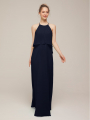 Alicepub Halter Flounced Chiffon Bridesmaid Dresses Long Formal Party Evening Prom Gowns