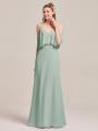 Alicepub Flounced Chiffon Long Formal Party Evening Prom Gown
