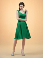 Alicepub V-Neck Short Chiffon Bridesmaid Dresses for Women Homecoming Dress