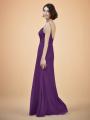 Alicepub Cowl Neck Chiffon Bridesmaid Dresses Long Formal Evening Dress