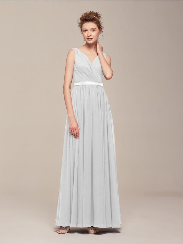 Alicepub V-Neck Chiffon Bridesmaid Dresses for Women Wedding Party