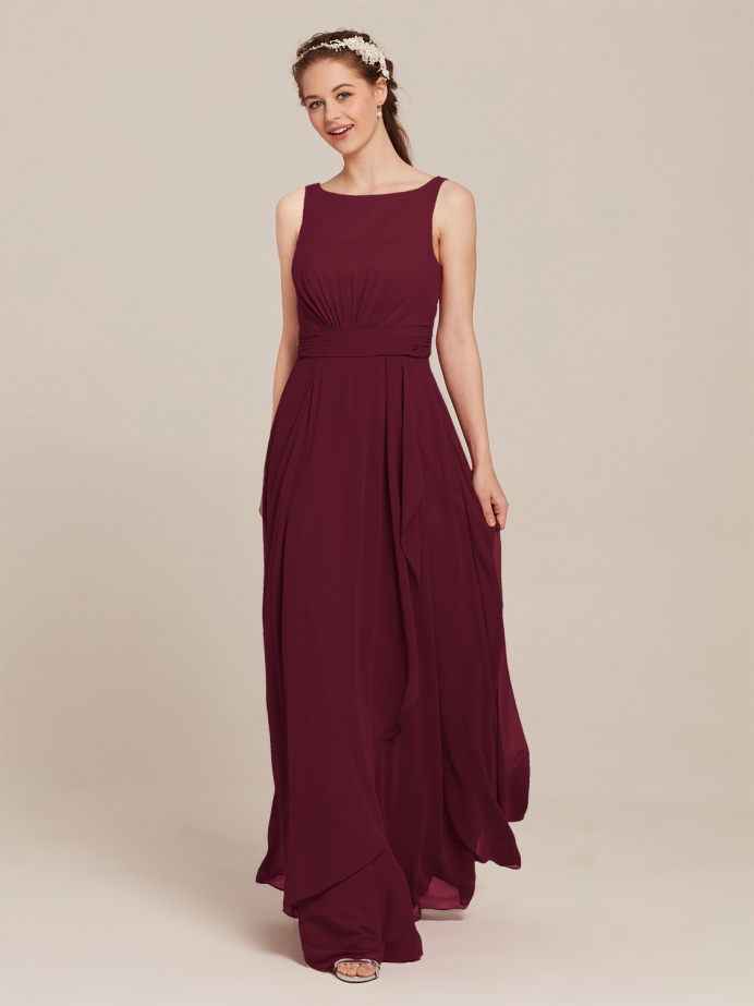 Alicepub Chiffon Bridesmaid Dresses for Wedding Long Formal Dress for Women Party