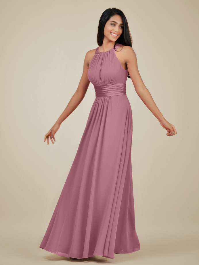 Alicepub Halter Chiffon Bridesmaid Dresses for Women Special Occasion