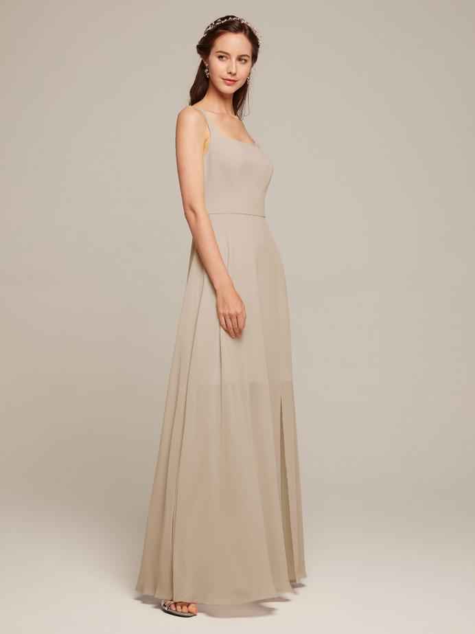 Alicepub Chiffon Bridesmaid Dresses Long Formal Party Dress for Wedding